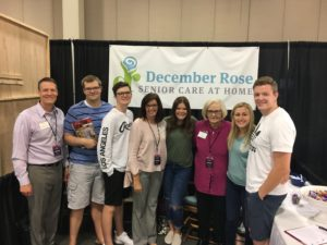 December Rose Senior Care at Home attends...What a Woman Wants Expo
